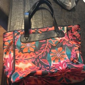 Pretty Fossil Flower Tote bag with zipper